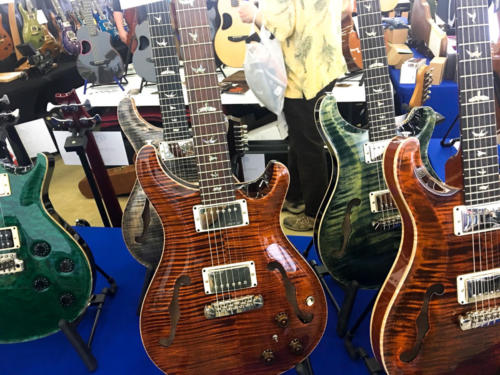 PRS guitars at the Dalls Guitar Show 2017