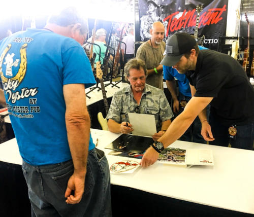 Ted Nugent talks with his fans