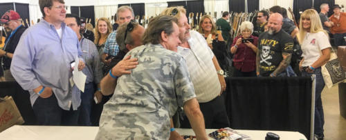 Ted Nugent meets fans at guitar show