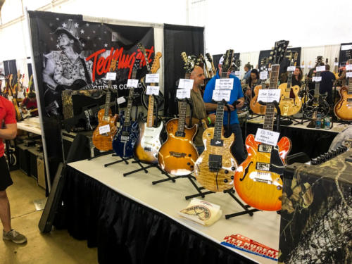 Ted Nugent booth internation guitar show