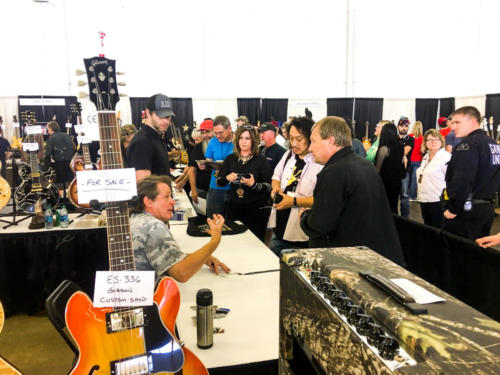 Ted Nugent mingles at the dallas guitar show
