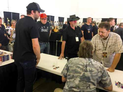 Ted Nugent with fans in Dallas
