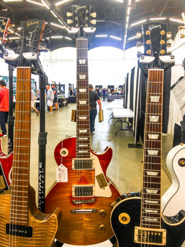 Les Paul guitars at The Dallas Guitar Festival 2017