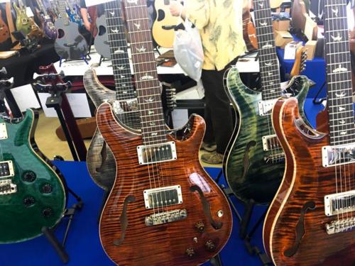 PRS guitars at the Dalls Guitar Show 2017