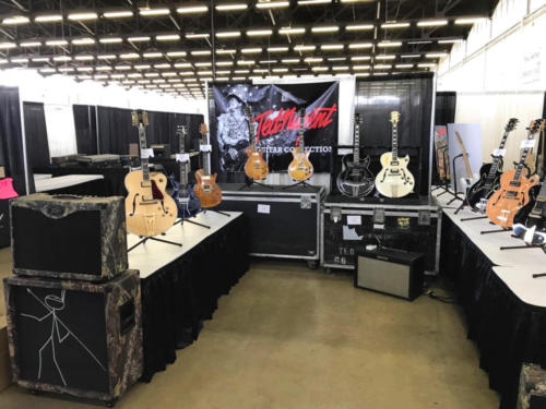 Ted Nugent booth at The Dallas Guitar Festival 2017