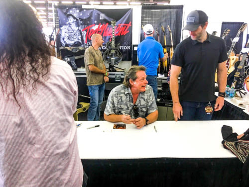 Ted Nugent enjoying his fans