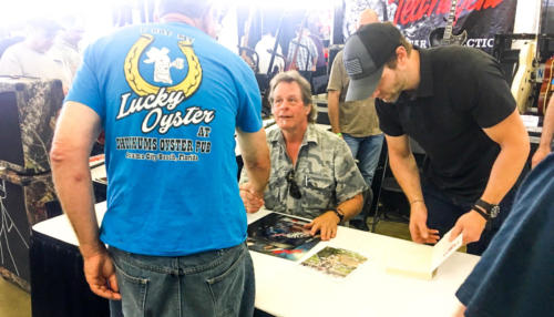 Ted Nugent listens to fans