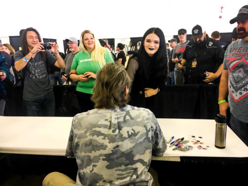Ted Nugent enjoying all his fans