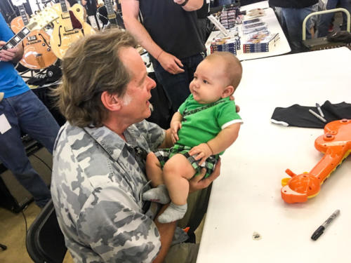 Ted Nugent with baby